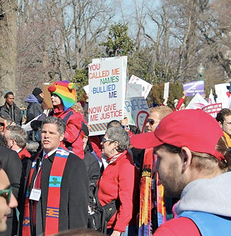 Image: Friends Church members at Marriage Equality demonstration