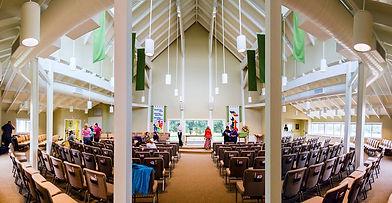 Image: Interior view of church sanctuary