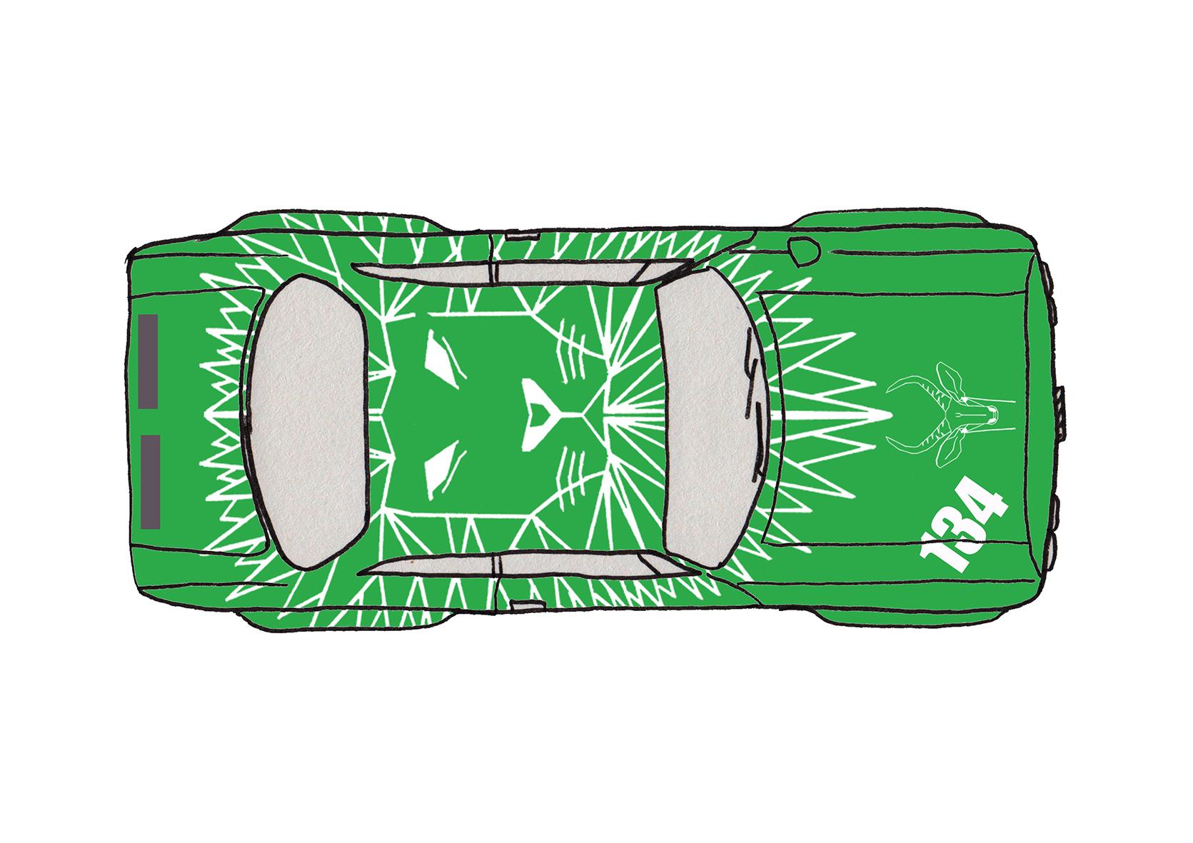 Vinyl Sticker for Race Car
