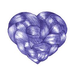 Heart of braids