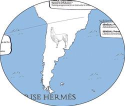 Mappemonde Hermès (détail)