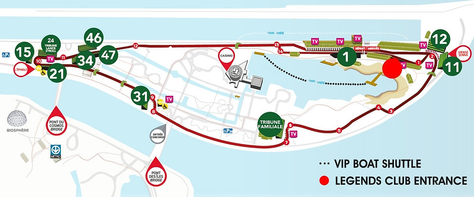 F1 Montreal Hospitality Legends Club Circuit Gilles Villeneuve Seating Map