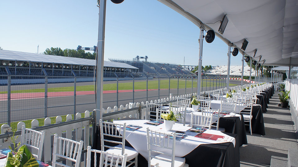 F1 Montreal Hospitality Legends Club Suite Tables