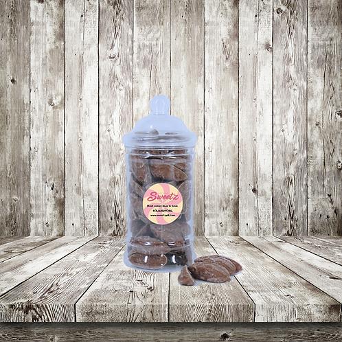 Milk chocolate mice sweet jar