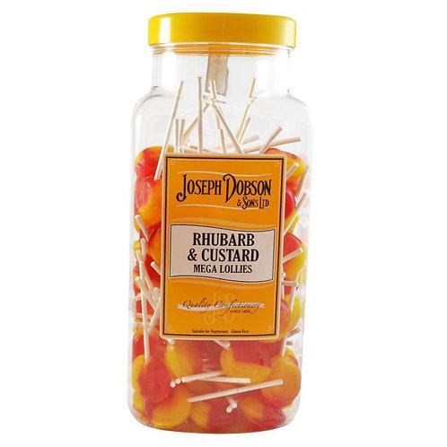 Dobsons Rhubarb & Custard Mega Lollies x10