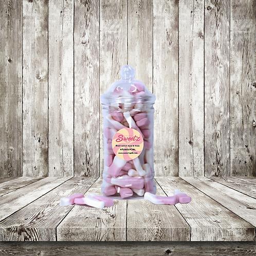 Milkshake bottle sweet jar
