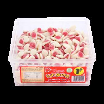 Swizzels Fun Gums Strawberry Tarts Tub