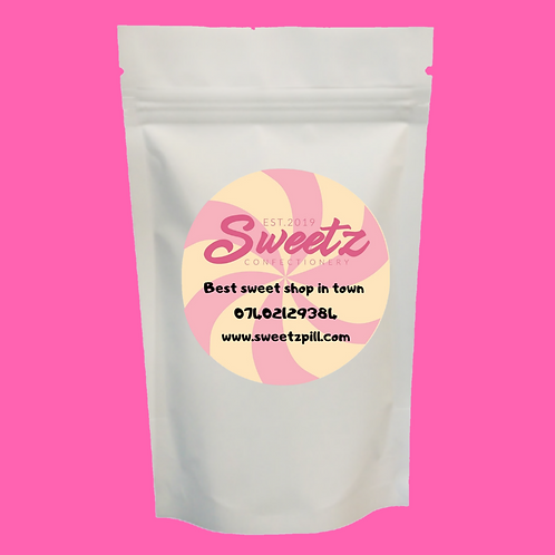 The pink sweets pouch