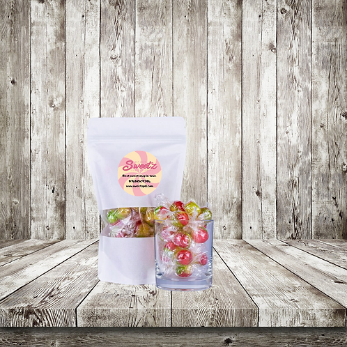 Wrapped rosey apple sweet pouch