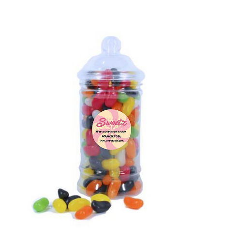 Jelly bean sweet jars