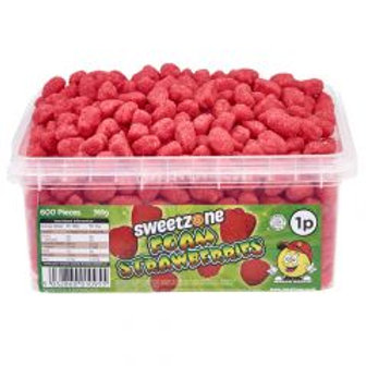 Sweetzone Foam Strawberries 1p Tub