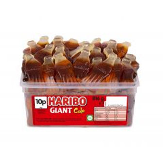 Haribo Giant Cola Bottles Tub 816g