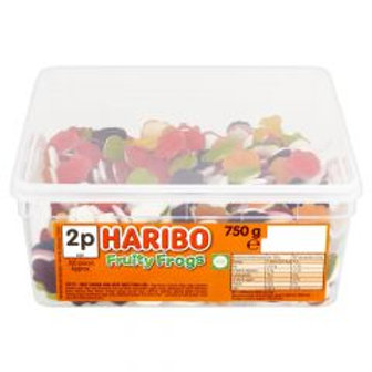 Haribo Fruity Frogs  Tub 750g