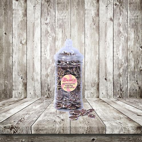 Milk chocolate jazzle sweet jars
