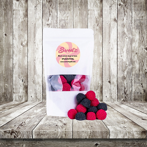 Black & Raspberry Berries Pouch