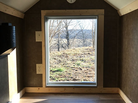 inside looking out insulated doghouse