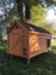 lap sided insulated doghouse