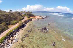 Kauai Kapaa Beach Aerial