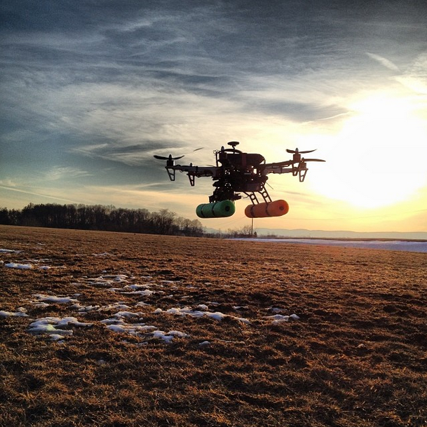 Multirotor Winter Takeoff
