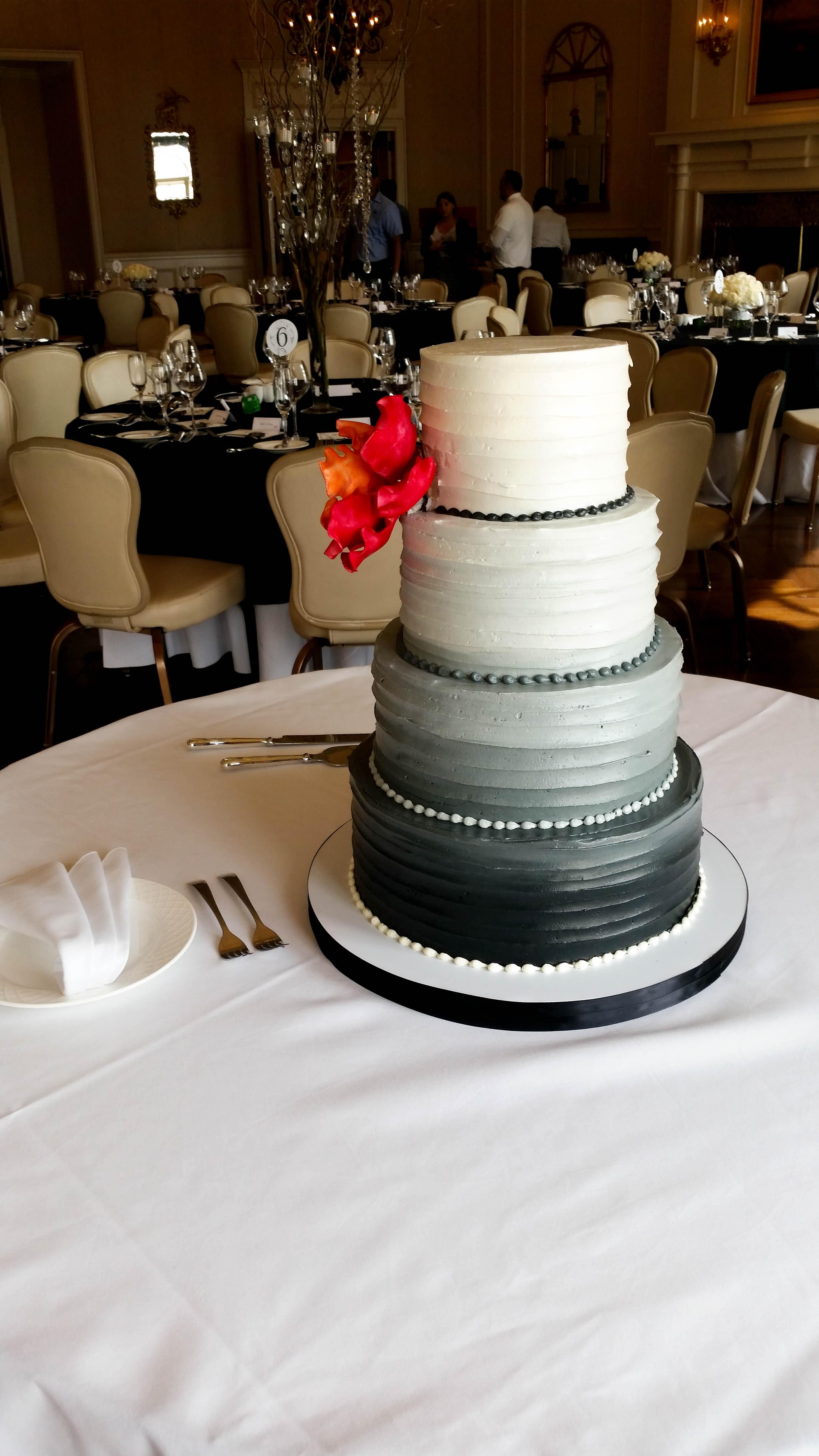 Angela and Doug Wedding Cake