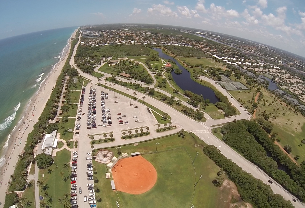 Beach Baseball Aerial FL