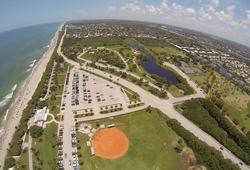 Beach Baseball Aerial FL