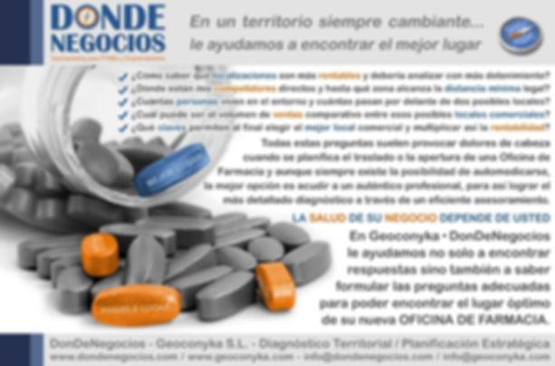Estudio de Mercado para Oficina de Farmacia Apertura Traslado