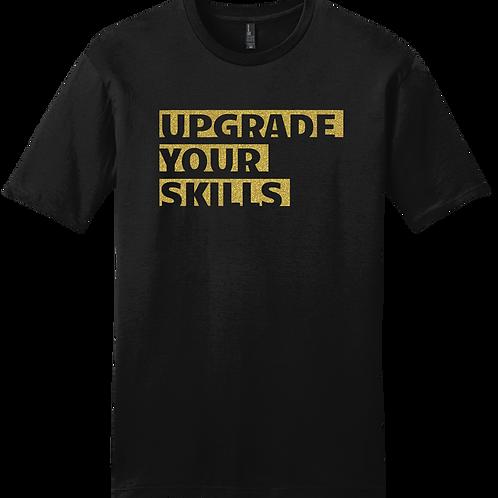 Upgrade Your Skills T-Shirt - Black w/ Gold