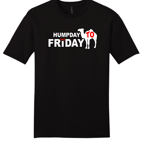 Humpday To Friday T-Shirt - Black