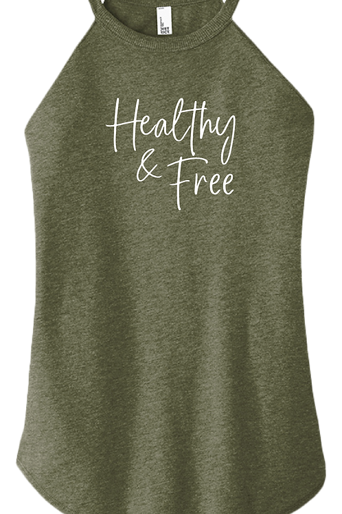 Healthy & Free Ladies Tank - Military Green Frost
