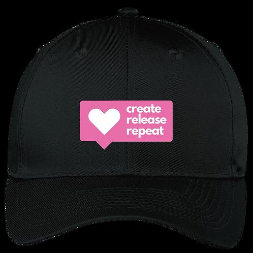 Create, Release, Repeat Post Hat - Black