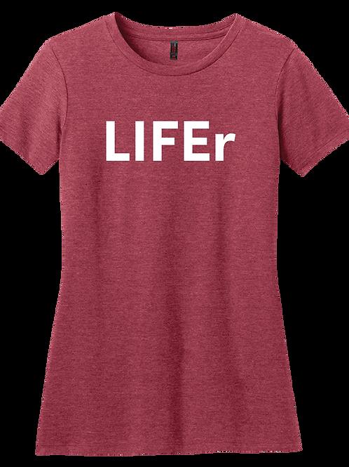 LIFEr Ladies T-Shirt - Heather Red