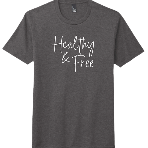 Healthy & Free T-Shirt - Heather Charcoal