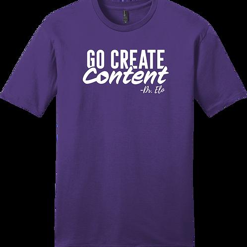 Go Create Content T-Shirt - Purple