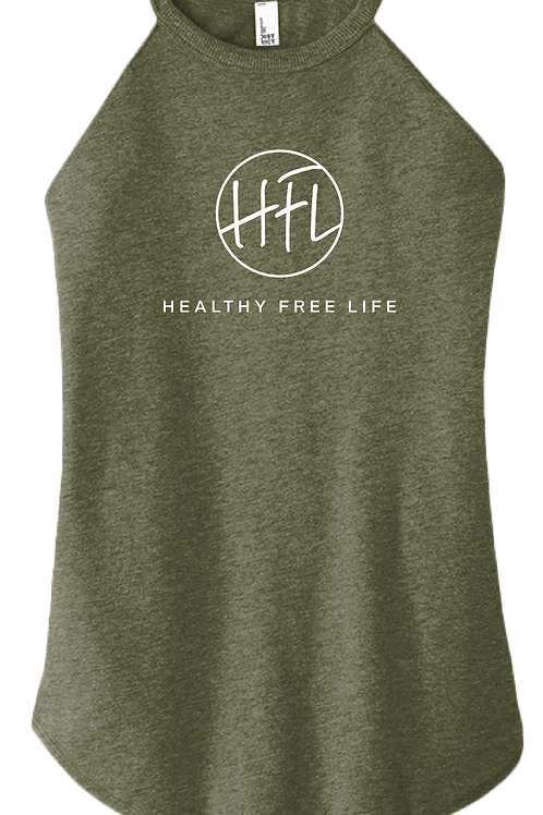 Healthy Free Life - Ladies Tank - Military Green Frost