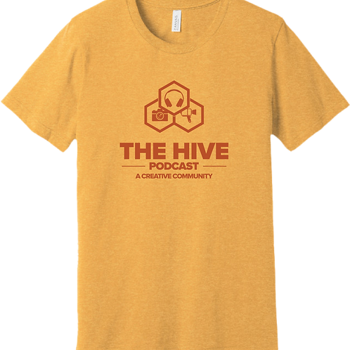 The Hive Podcast T-Shirt - Heather Mustard