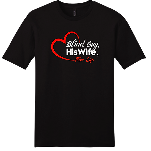 Blind Guy, His Wife, Their Life T-Shirt - Black
