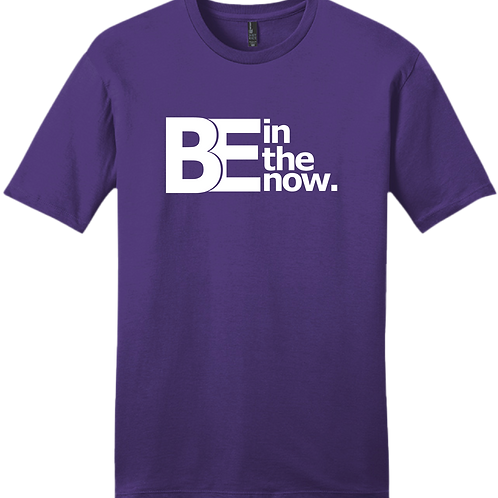 Be In The Now T-Shirt - Purple