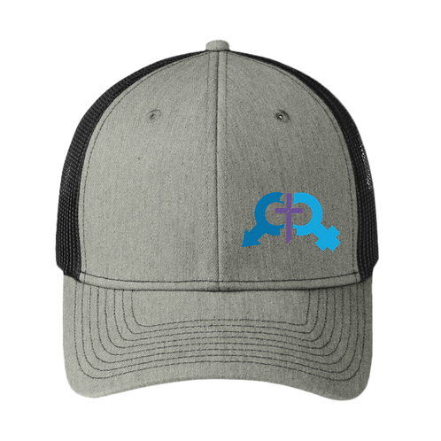 Denoli Original | Trucker Hat - Heather Grey/ Black