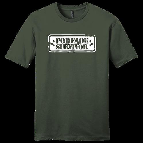 Podfade Survivor T-Shirt - Camo Green