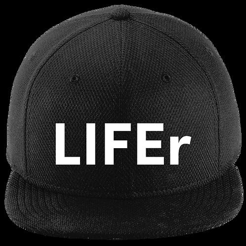 LIFEr Flat Bill Snapback Cap - Black