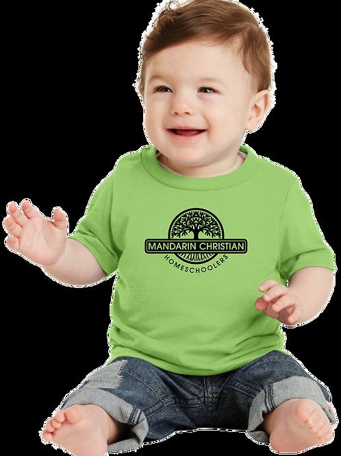 Mandarin Christian Home Schoolers  Infant T-Shirt - Lime