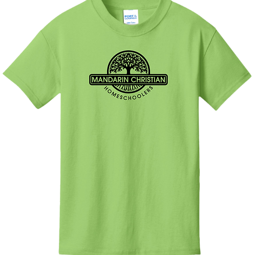 Mandarin Christian Home Schoolers Youth T-Shirt - Lime