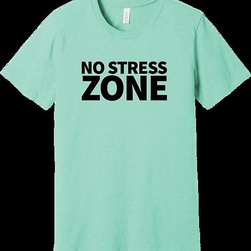 No Stress Zone T-Shirt - Heather Mint