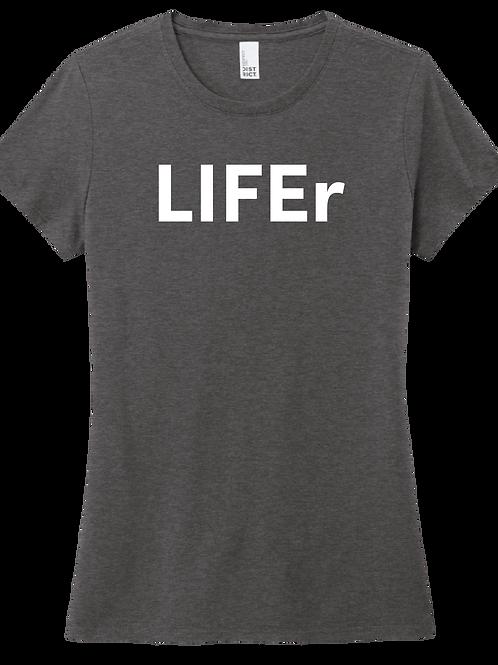 LIFEr Ladies T-Shirt - Heather Charcoal