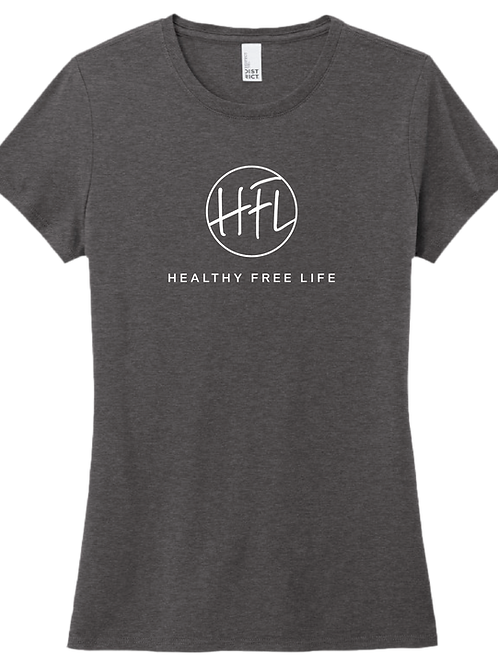Healthy Free Life Ladies T-Shirt - Heather Charcoal