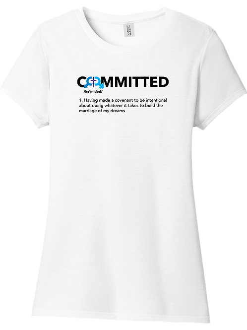 Committed   Ladies T-Shirt - White