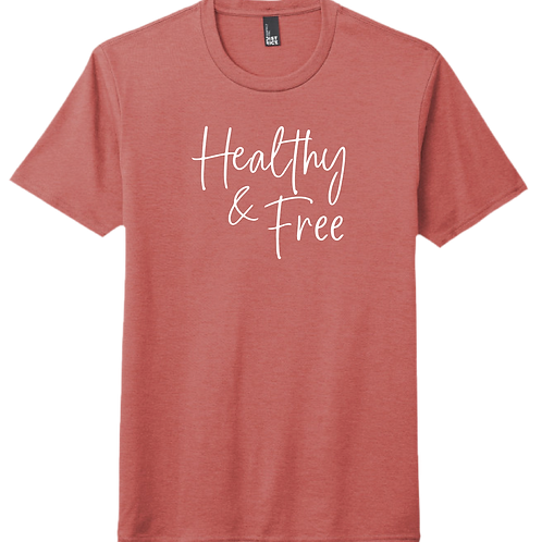Healthy & Free T-Shirt - Blush Frost