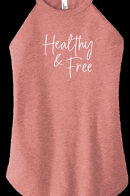 Healthy & Free Ladies Tank - Blush Frost