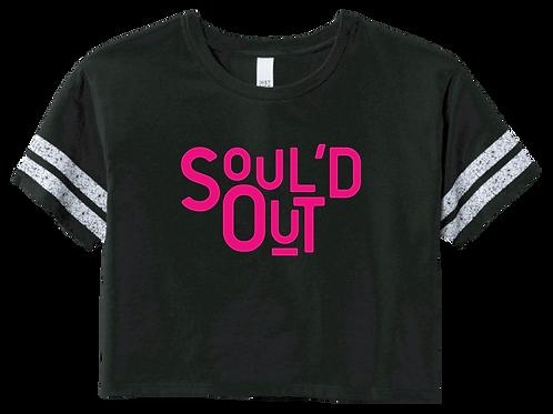 Soul'd Out Crop Tee - Black